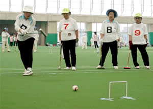 08.07山陽新聞社会事業団杯県女子ゲートボール大会
